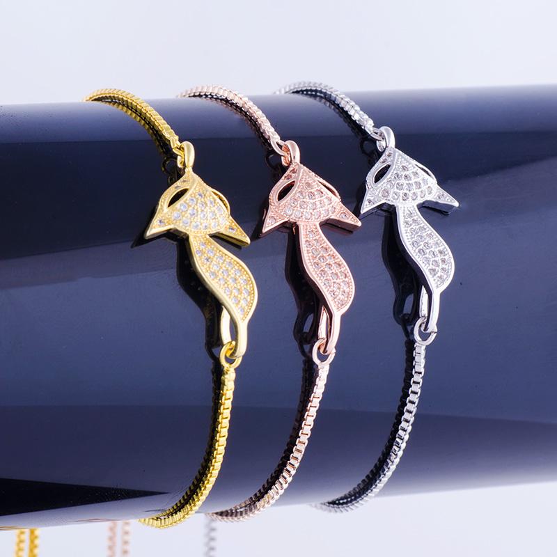 """""""Lovely Square"""" Fox Bracelet 34"""