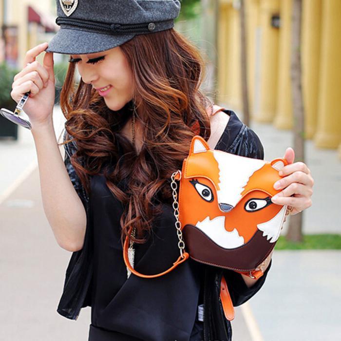 """""""Cartoon"""" - Fox Shoulder Bag 1"""
