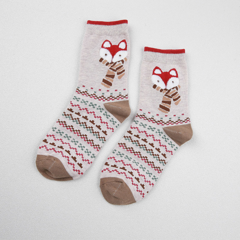"""FoxyWinter"" - 2 Pair Fox Socks 3"