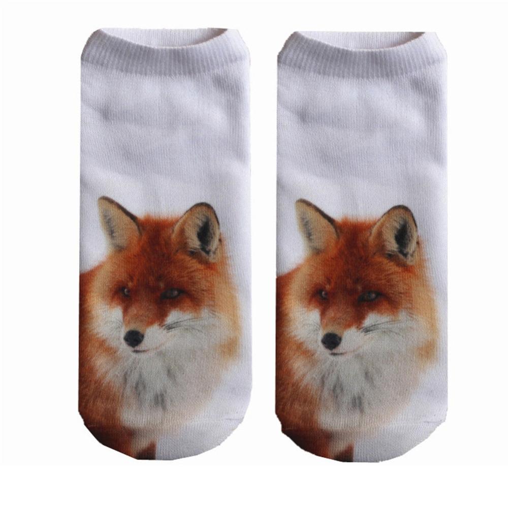 """""""3D"""" - Fox Socks 1"""