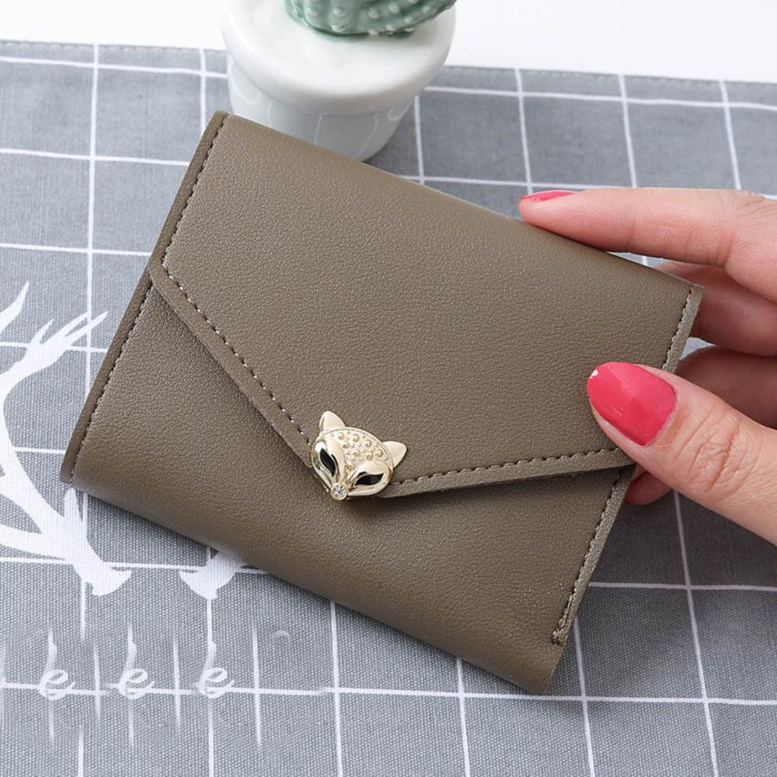 """Foxy"" - Fox Wallet / Short Purse 15"