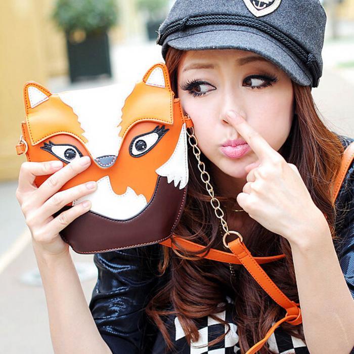 """""""Cartoon"""" - Fox Shoulder Bag 5"""
