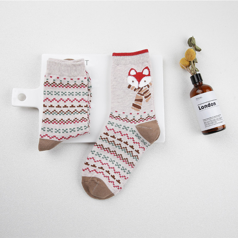 """FoxyWinter"" - 2 Pair Fox Socks 2"